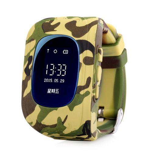 Умные Детские Часы С GPS Smart Baby Watch Q50, Цвет Хаки