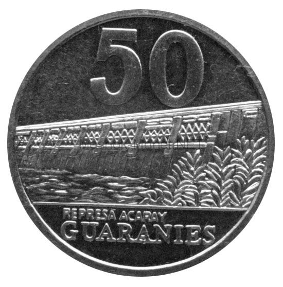 Парагвай 50 гуарани 2008 г.