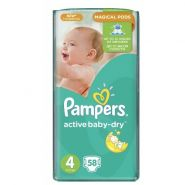 Pampers Active Baby 7-14кг, 58шт (4)