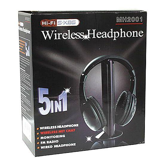 Наушники Беспроводные 5-В-1 С FM Приемником Wireless Headphone