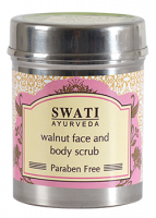 Скраб для лица и тела с Грецким орехом Свати Аюрведа   Swati Ayurveda Walnut Face&Body Scrub