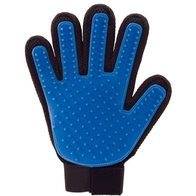 Перчатка Для Вычёсывания Шерсти True Touch, Цвет Синий