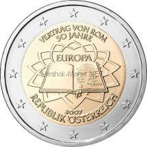 Австрия 2 евро 2007 Римский договор