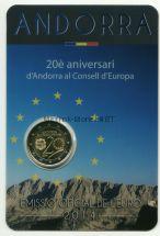 Андорра 2 евро 2014, 20 летие вступления Андорры в совет Европы