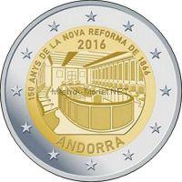 Андорра 2 евро 2016. 150-летие новой реформы 1866 г. (Буклет)