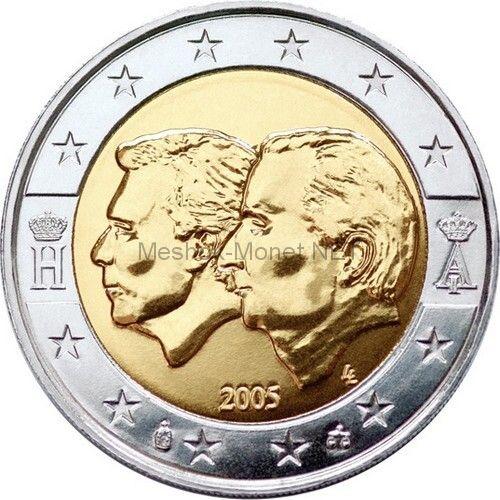 Бельгия 2 евро 2005 Бельгийско-Люксембургский Экономический союз