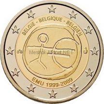 Бельгия 2 евро 2009, 10 лет экономическому и валютному союзу