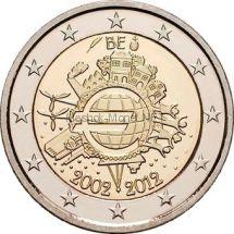 Бельгия 2 евро 2012 10 лет наличному обращению евро