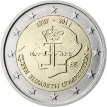 Бельгия 2 евро 2012, 75 лет музыкальному конкурсу имени королевы Елизаветы