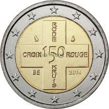 Бельгия 2 евро 2014, 150 лет Бельгийскому Красному Кресту