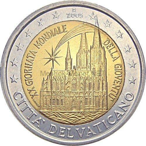 Ватикан 2 евро 2005, XX День молодежи в Кельне (буклет)