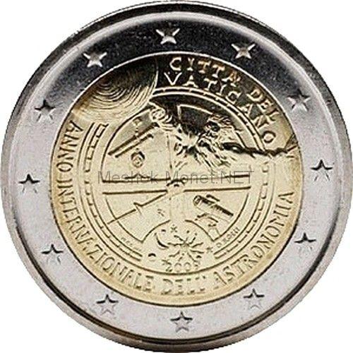 Ватикан 2 евро 2009, Год Астрономии (буклет)