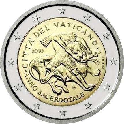 Ватикан 2 евро 2010, Год священников (буклет)
