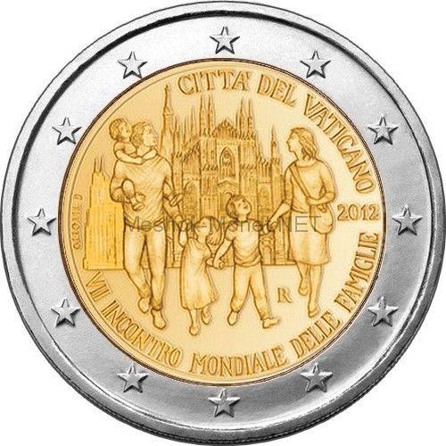 Ватикан 2 евро 2012, VII Всемирная встреча семей (буклет)