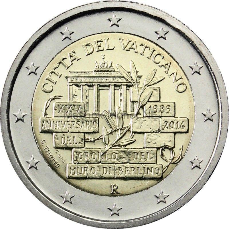 Ватикан 2 евро 2014, 25-летие падения Берлинской стены (буклет)