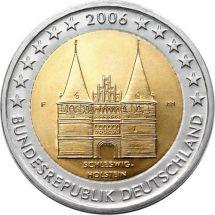 Германия 2 евро 2006, Шлезвиг-Гольштейн (ворота Хольстентор в городе Любек)