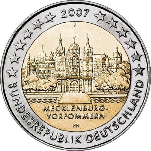 Германия 2 евро 2007, Мекленбург-Передняя Померания (Шверинский Замок)