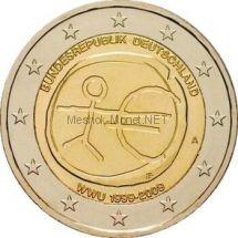 Германия 2 евро 2009, 10 лет Экономическому и валютному союзу