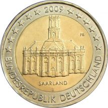 Германия 2 евро 2009, Саар (Церковь Людвига в Саарбрюккене)