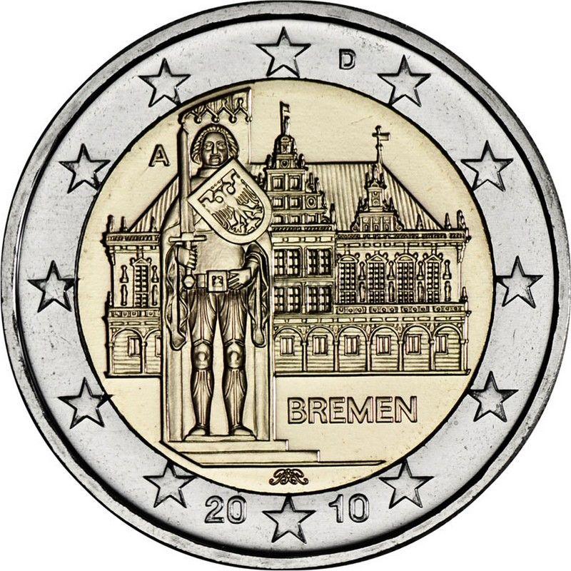 Германия 2 евро 2010, Бремен (Городская ратуша)