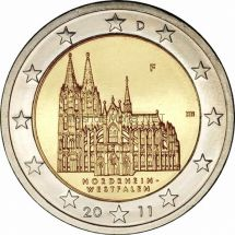 Германия 2 евро 2011, Северный Рейн- Вестфалия (Кёльнский собор)