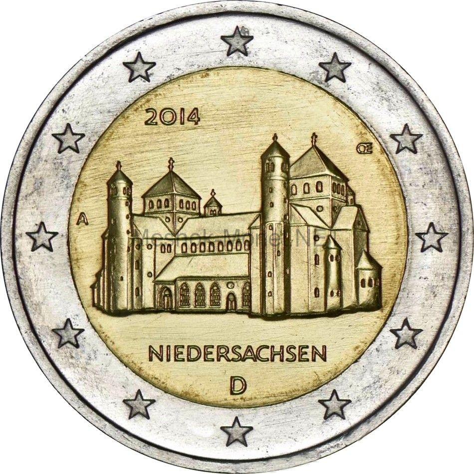 Германия 2 евро 2014, Нижняя Саксония (Церковь Св. Михаэля в Хильдесхайме)