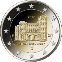 Германия 2 евро 2017, Рейнланд-Пфальц (Порта Нигра, г.Трир)