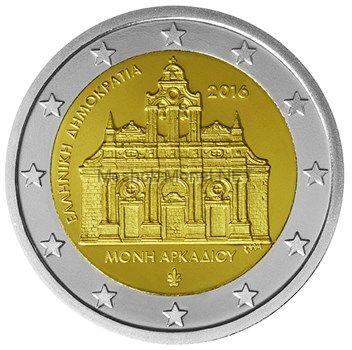 Греция 2 евро 2016 Монастырь Аркади Крит