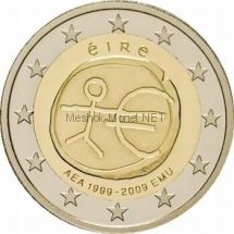 Ирландия 2 евро 2009 10 лет экономическому и валютному союзу