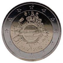 Ирландия 2 евро 2012 10 лет наличному обращению евро