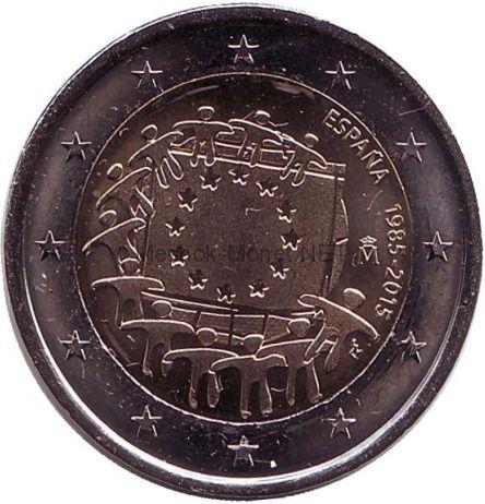 Испания 2 евро 2015, 30 лет Флагу Европы