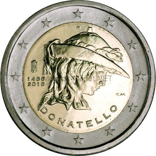 Италия 2 евро 2016, Донателло