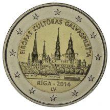 Латвия, 2 евро 2014, Рига - Культурная столица Европы