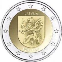 Латвия, 2 евро 2016, Видземе