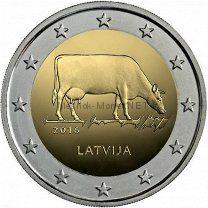Латвия, 2 евро 2016, Корова
