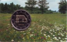 Латвия, 2 евро 2016, Корова (в буклете)