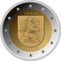 Латвия, 2 евро 2017, Историческая область Курземе