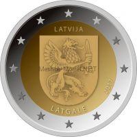 Латвия, 2 евро 2017, Историческая область Латгале