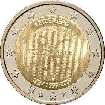 Люксембург 2 евро 2009, 10 лет экономическому и валютному союзу