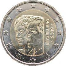 Люксембург 2 евро 2009, 90 лет вступления на престол Герцогини Шарлотты