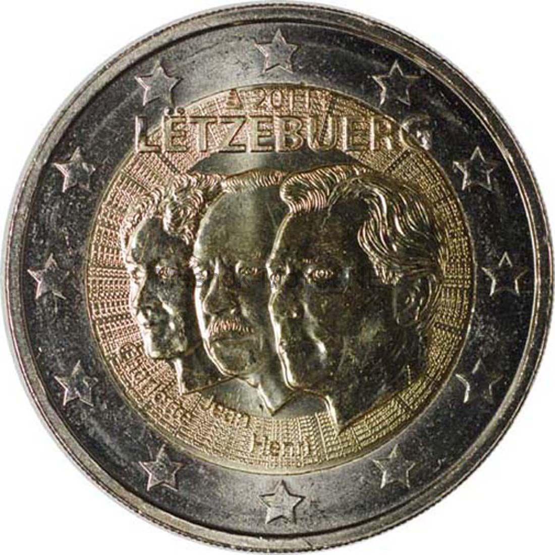 Люксембург 2 евро 2011, 50 лет назначения Великого герцога Люксембурга Жана титулом «Лейтенант - представитель»