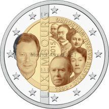Люксембург 2 евро 2015, 125-летие династии Нассау-Вайльбург