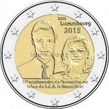 Люксембург 2 евро 2015, 15-летие вступления на престол Великого Герцога Анри.