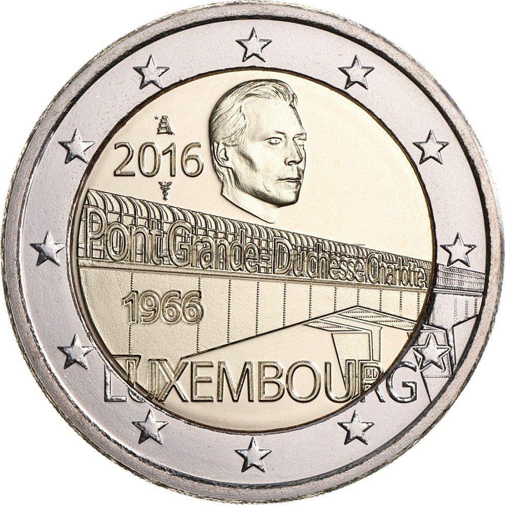 Люксембург, 2 евро 2016, Мост Шарлотты