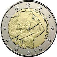 Мальта 2 евро 2014, Независимость 1964 года