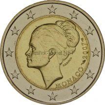Монако 2 евро 2007 Грейс Келли
