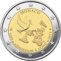 Монако 2 евро 2013, 20 лет Монако в ООН