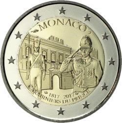 Монако 2 евро 2017 200 лет Компании карабинеров принца