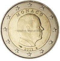 Монако, 2 евро 2011, Князь Альберт II