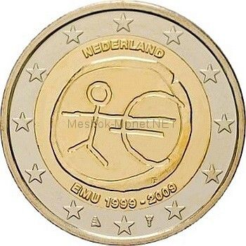 Нидерланды 2 евро 2009, 10 лет экономическому и валютному союзу